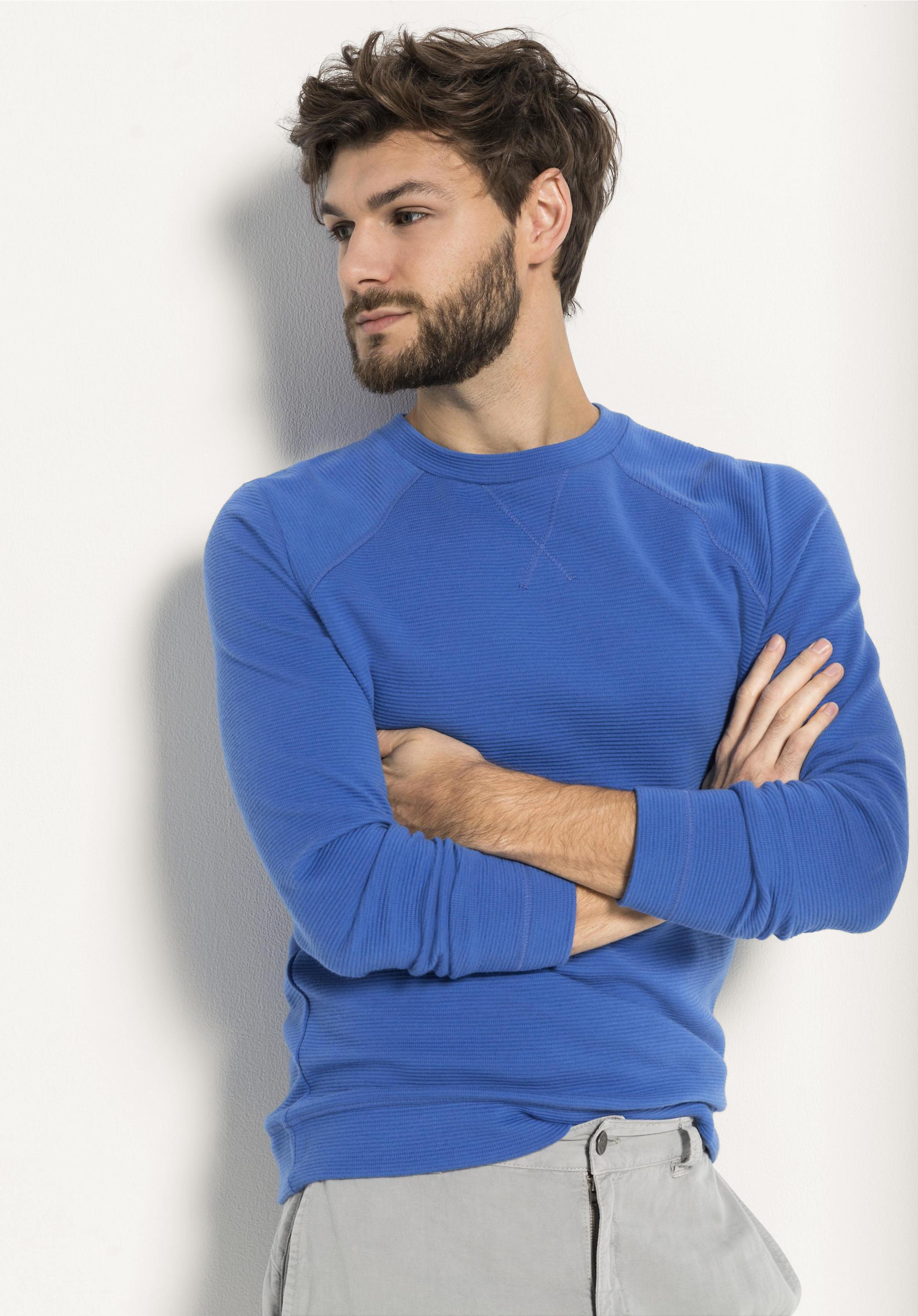 Sweatshirt aus Bio Baumwolle mit Bio Merinowolle von hessnatur
