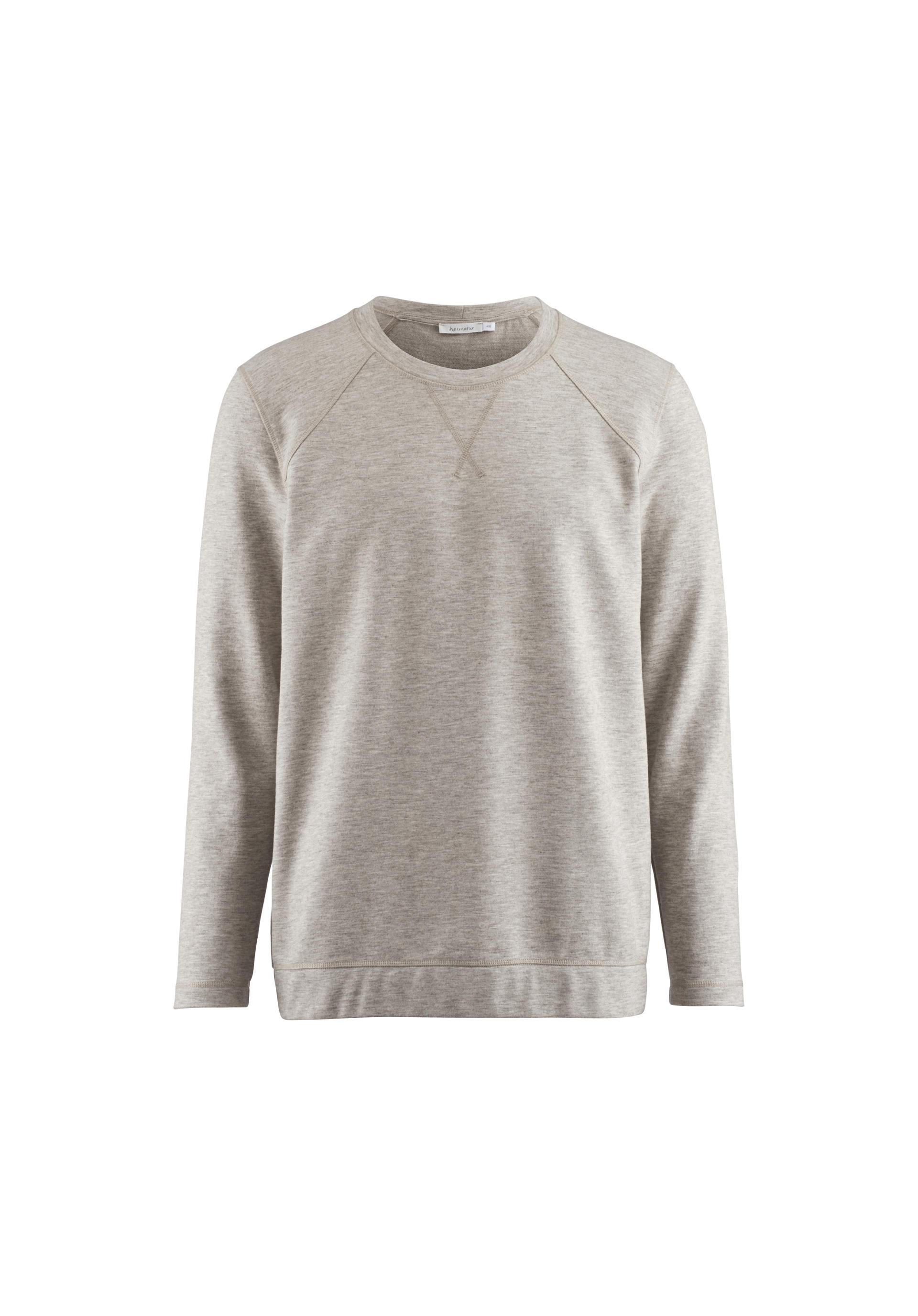 Sweatshirt aus Bio Baumwolle mit Yakwolle von hessnatur