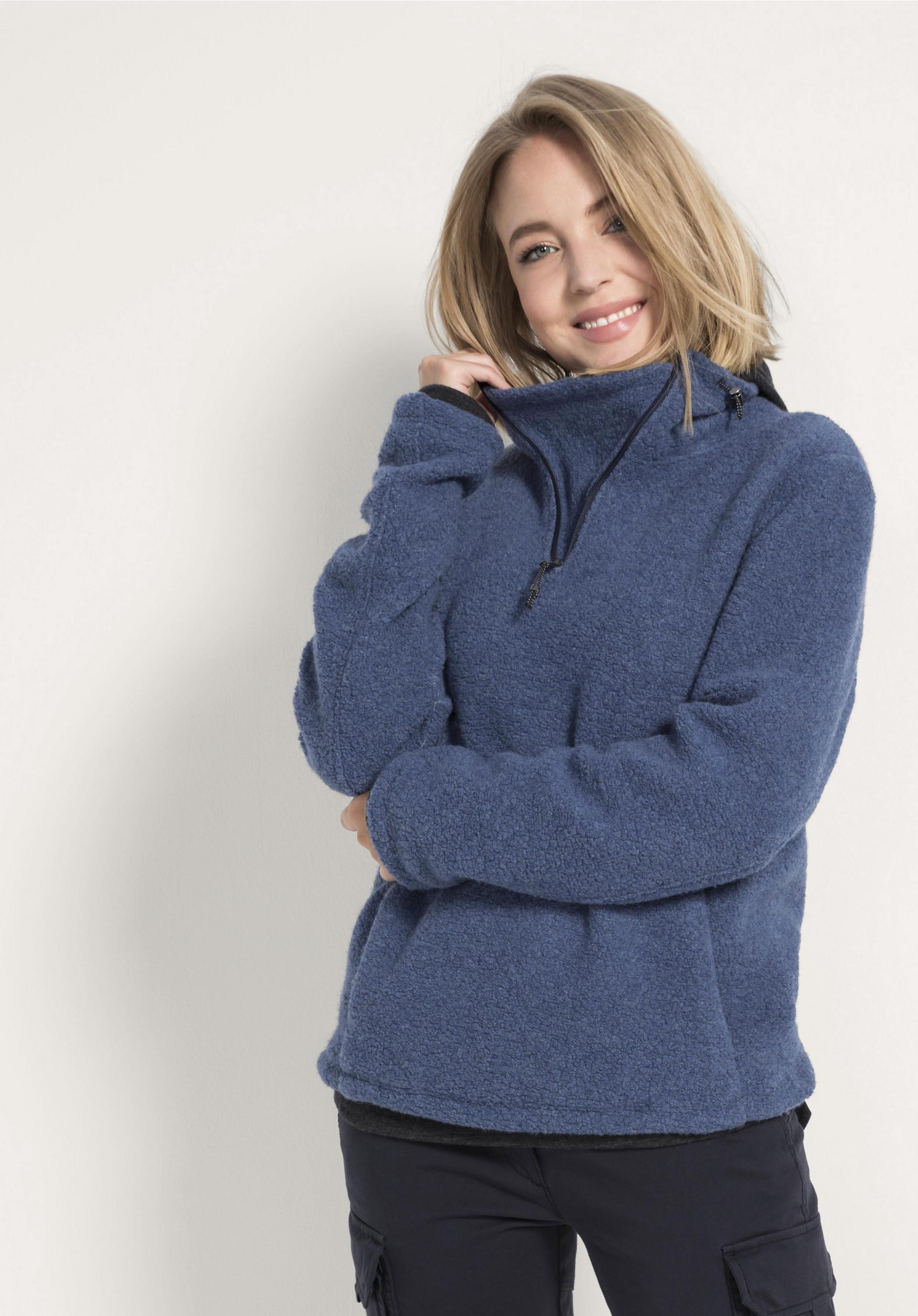 Sweatshirt aus Schurwolle und Bio Baumwolle von hessnatur
