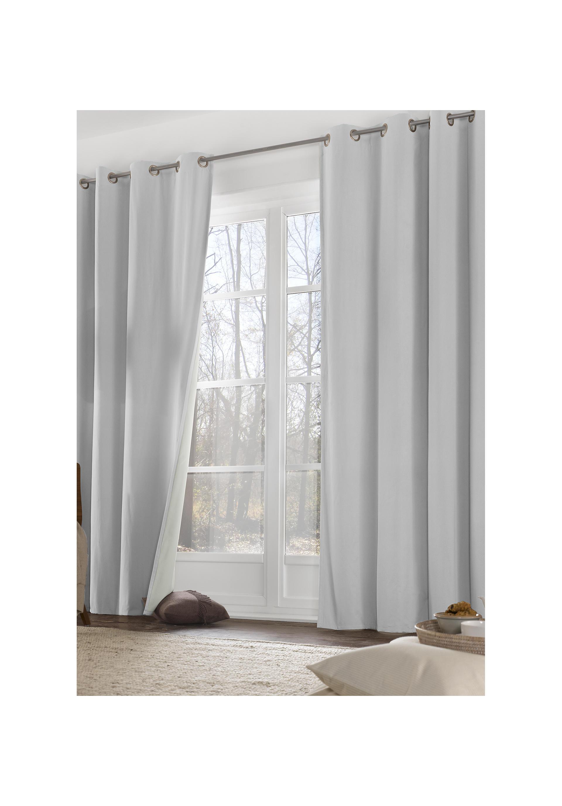 thermo vorhang neveres mit sen aus reiner bio baumwolle. Black Bedroom Furniture Sets. Home Design Ideas