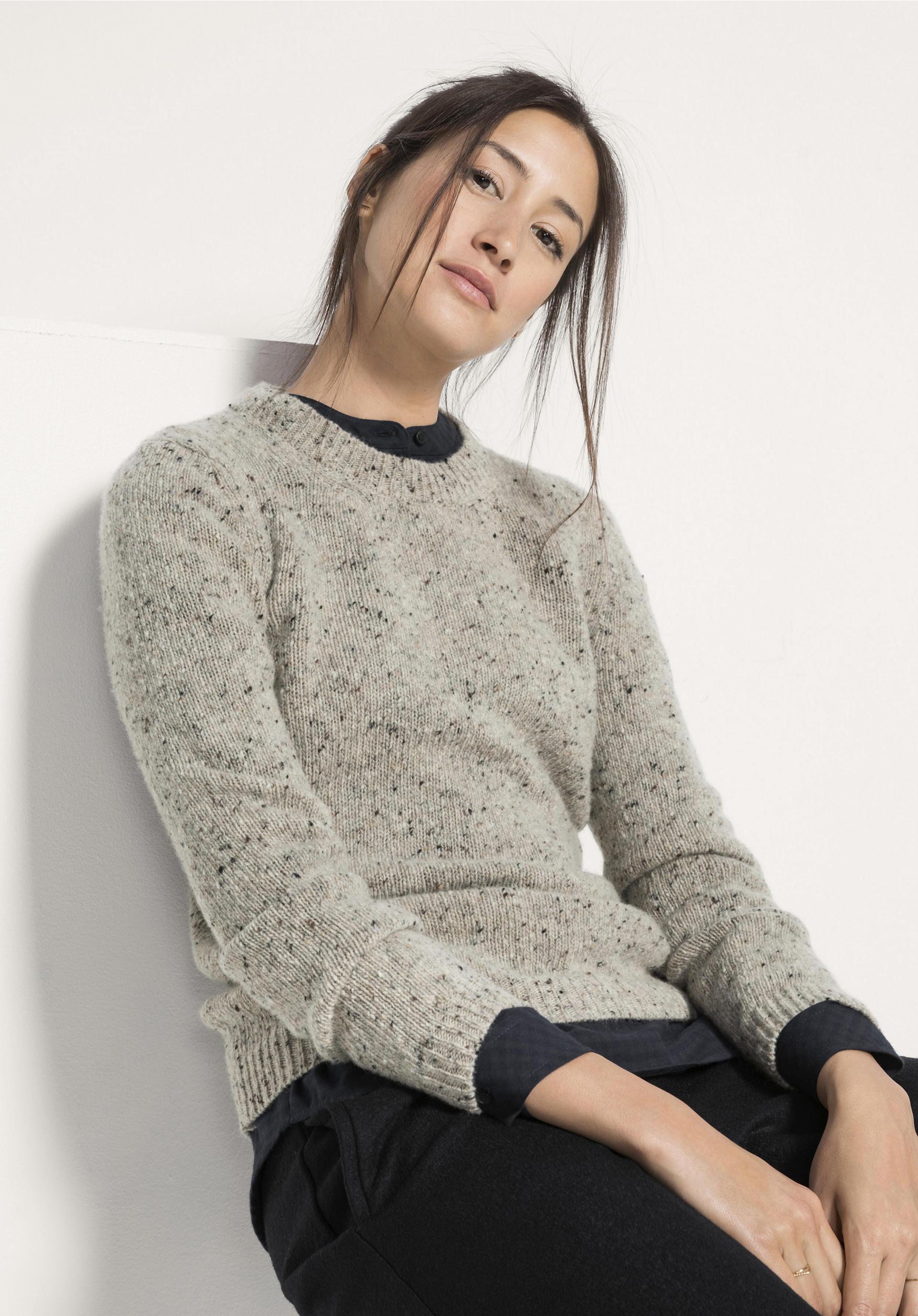 herausragende Eigenschaften konkurrenzfähiger Preis Sonderkauf Tweed-Pullover aus reiner Schurwolle - hessnatur Deutschland