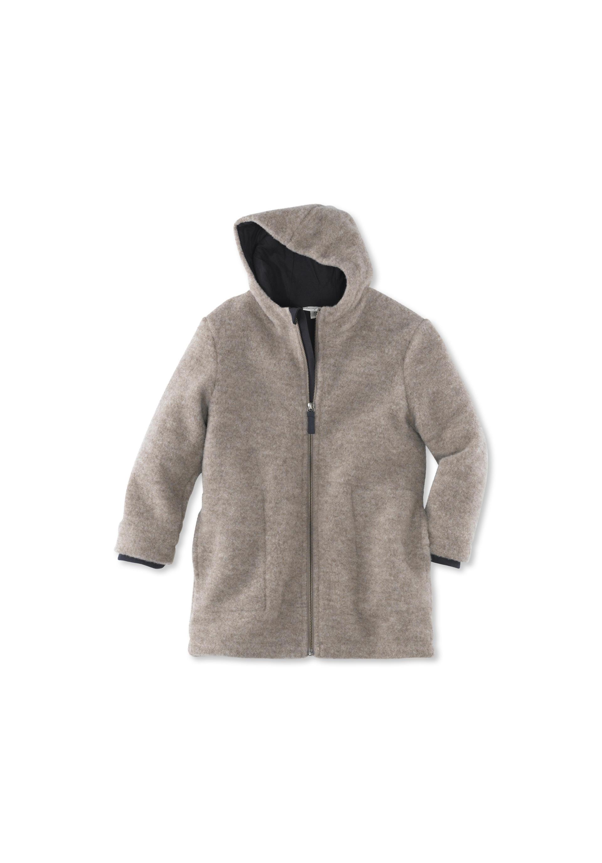 frische Stile suche nach neuesten abgeholt Wollfleece Mantel aus reiner Schurwolle von hessnatur