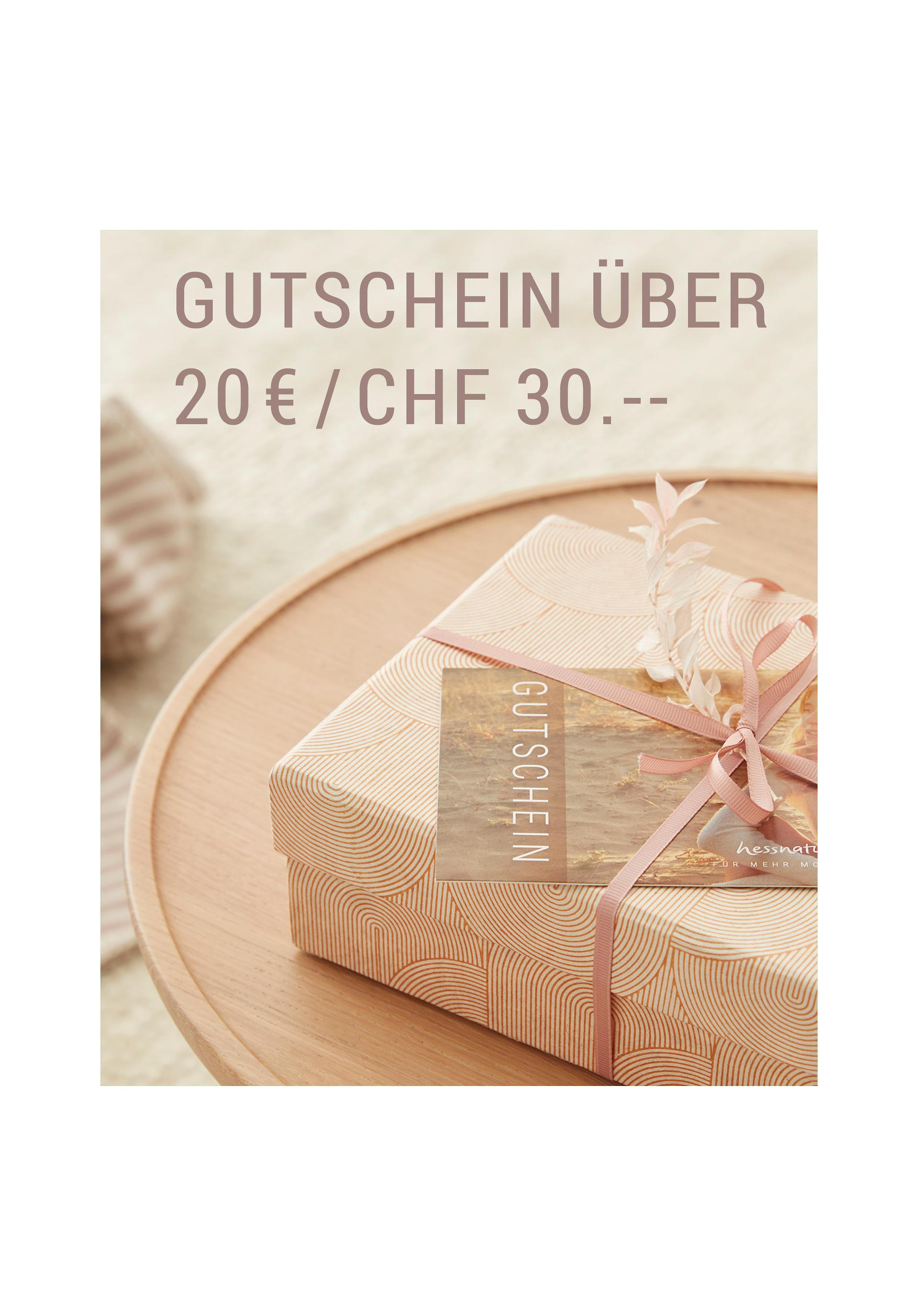 Gutschein hessnatur 20