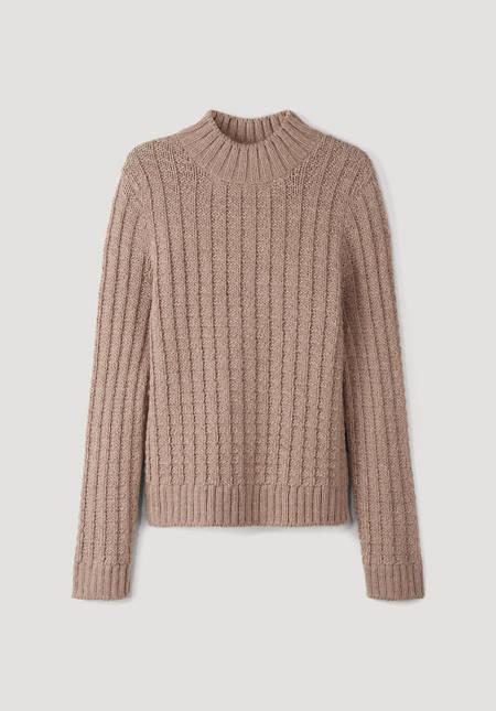 Alpaca and virgin wool sweater