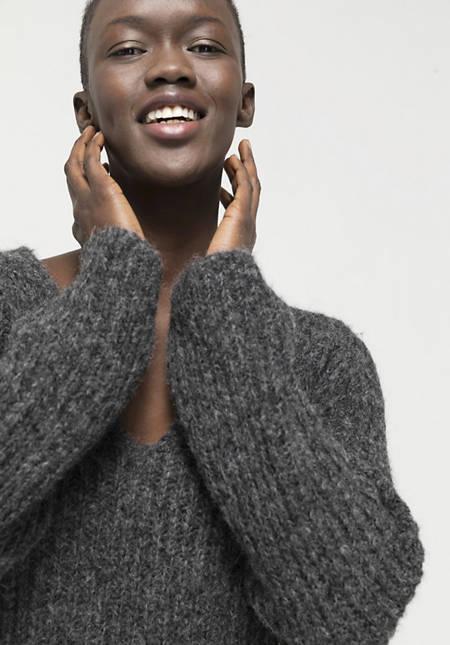 Alpaca sweater with pima cotton