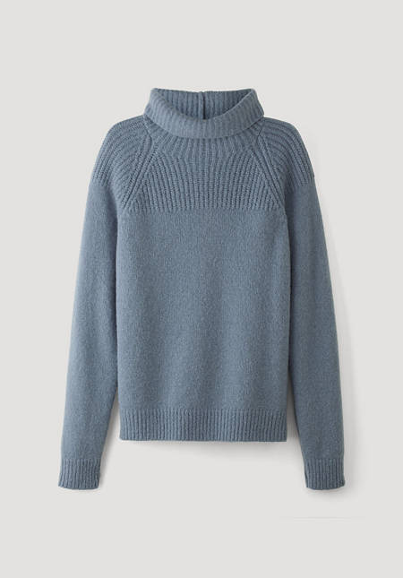 Alpaca sweater with silk and mohair