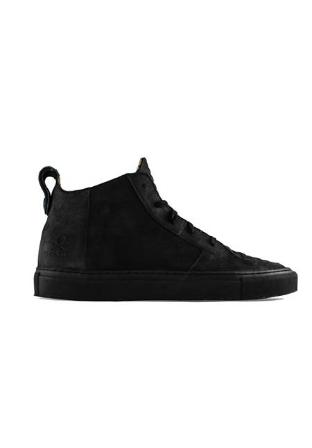 Argan Mid / Black Leather Black Sole