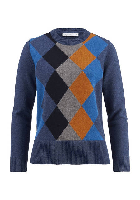 Argyle-Pullover aus reiner Lambswool
