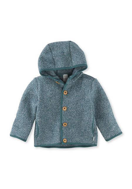 Baby Jacke aus Bio-Merinowolle und Bio-Baumwolle