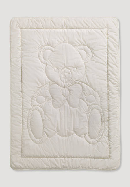 Bed and stroller blanket made from pure organic cotton