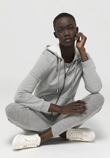 Bed recycling sweat jacket made of pure organic cotton
