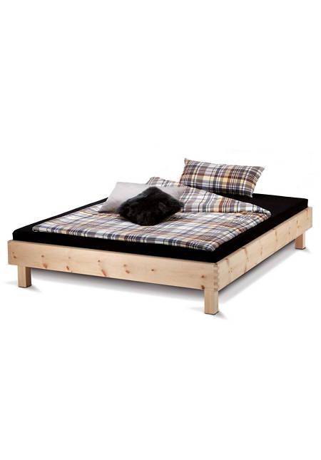 Bett Step-X mit Holzbeinen