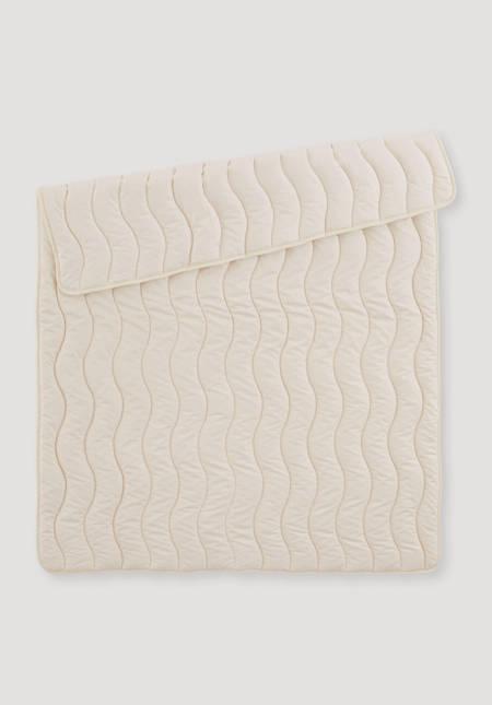 Bett- und Kinderwagen-Decke aus reiner Bio-Baumwolle
