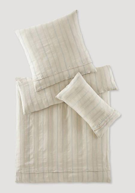 Bettwäsche Limoges aus Bio-Leinen mit Bio-Baumwolle