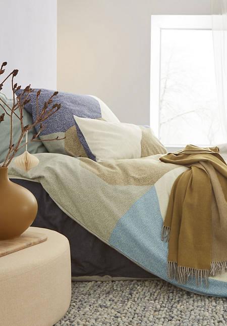 Biber-Bettwäsche-Set Maisema aus reiner Bio-Baumwolle