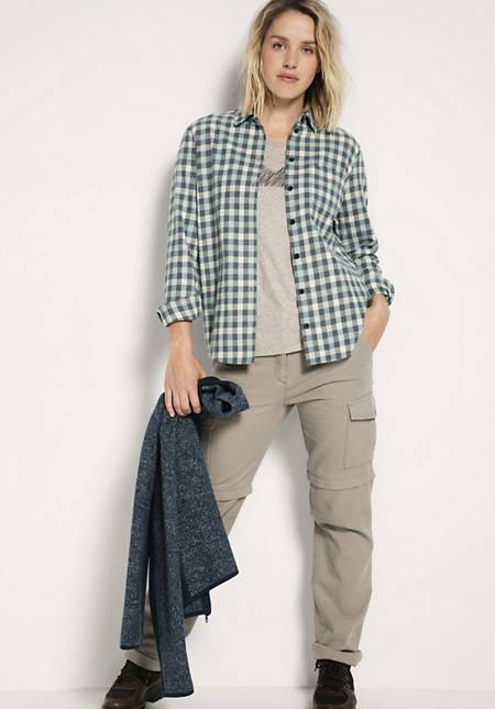 Bluse aus Bio-Baumwolle mit Hanf