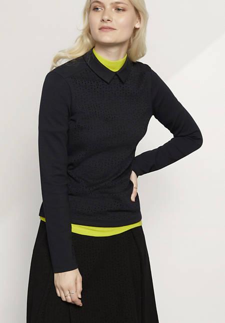 Bluse aus Bio-Baumwolle mit Modal