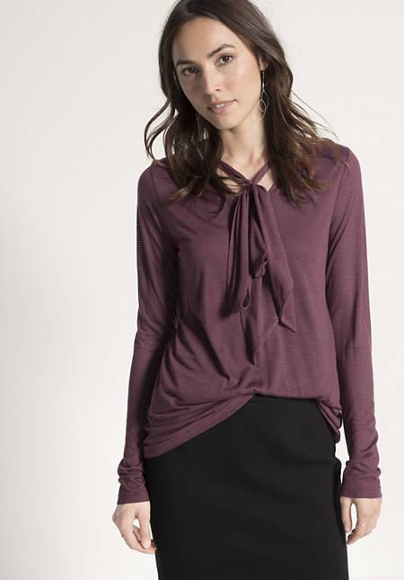 Bluse aus Modal mit Schurwolle