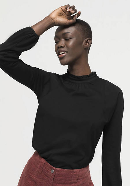 Blusenshirt aus reiner Pima-Bio-Baumwolle