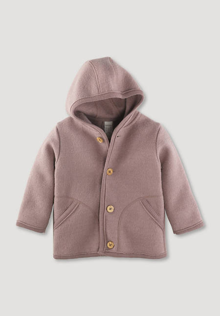 Boiled wool jacket made from pure organic merino wool