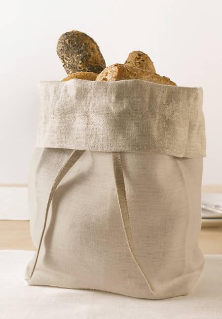 Brotbeutel zum Wenden aus reinem Leinen