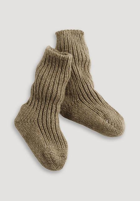 Camel hair sock