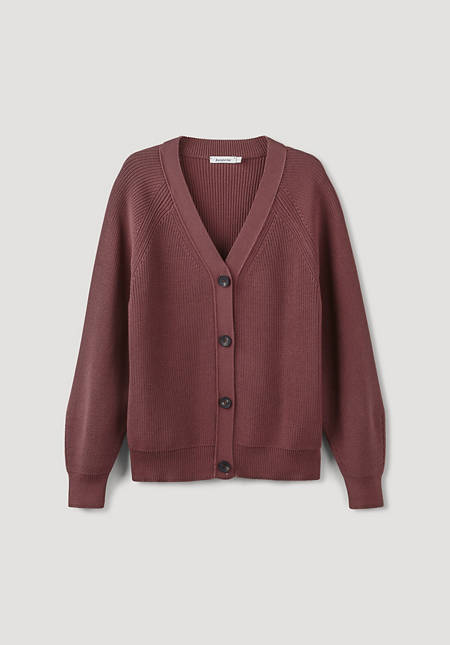 Cardigan made from pure organic cotton