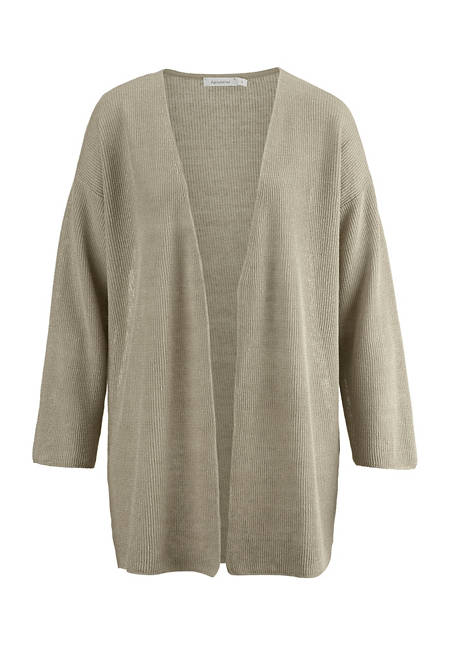 Cardigan made from pure organic linen