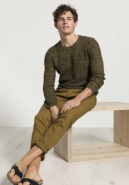 Chino Modern Fit aus Bio-Baumwolle mit Hanf