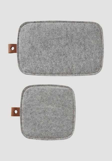 Coaster made of pure new wool felt