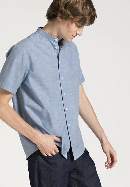 Comfort Fit shirt made of organic cotton with linen and kapok