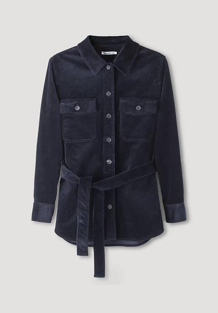 Cord Overshirt aus Bio-Baumwolle