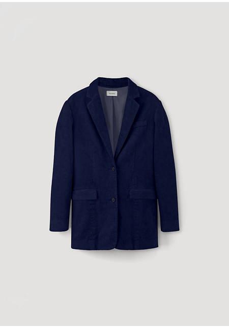 Cord blazer made of hemp with organic cotton