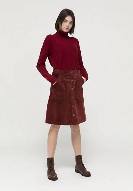 Cord skirt made of organic cotton