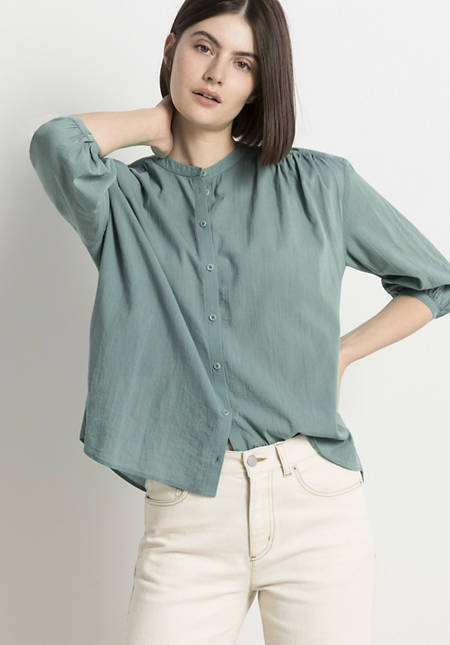 Crêpe blouse made from pure organic cotton