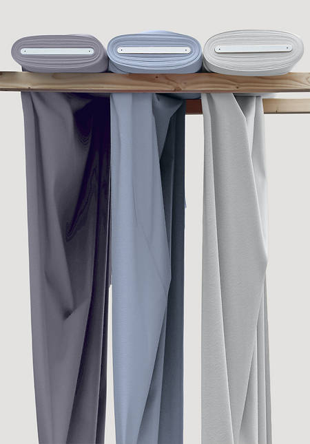 Curtain fabric by the meter from pure organic cotton