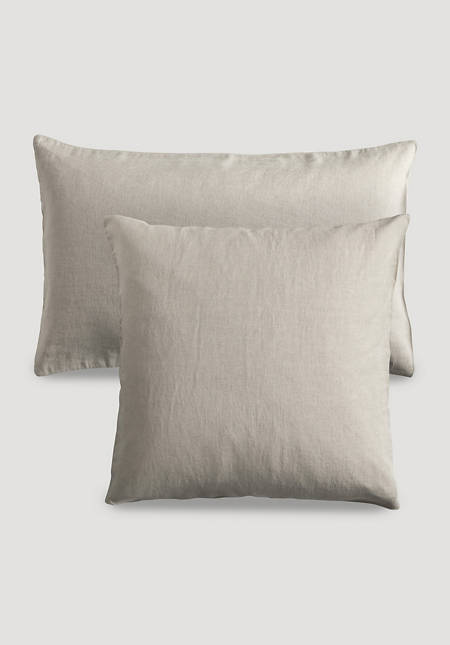 Cushion cover made of organic linen with organic cotton
