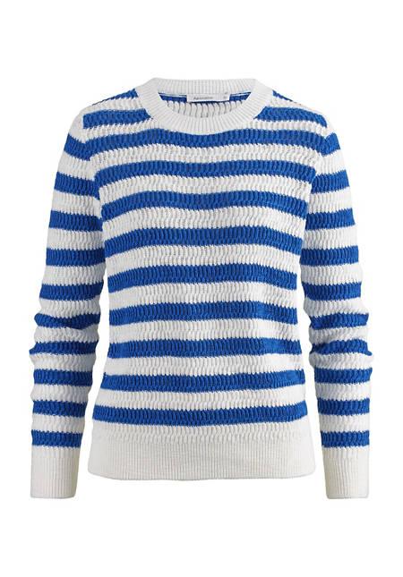 Damen Blockstreifen-Pullover aus reiner Bio-Baumwolle