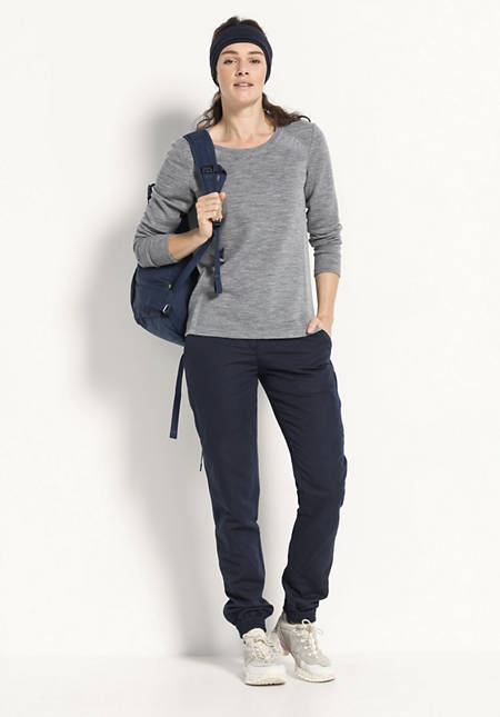 Damen Cargohose aus Bio-Baumwolle mit Leinen