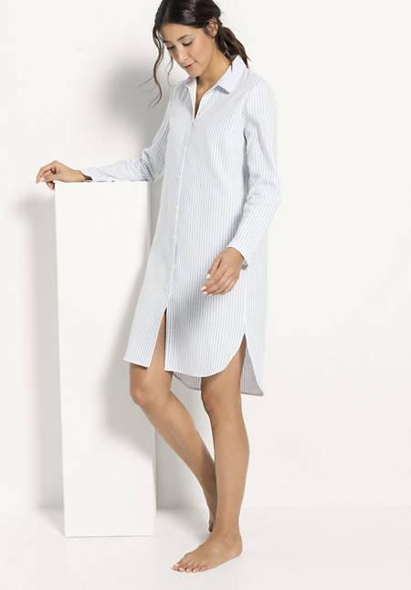 Damen Flanell-Nachthemd aus reiner Bio-Baumwolle