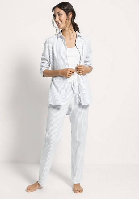 Damen Flanell-Schlafshirt aus reiner Bio-Baumwolle