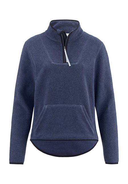 Damen Fleece-Sweatshirt aus reiner Bio-Baumwolle