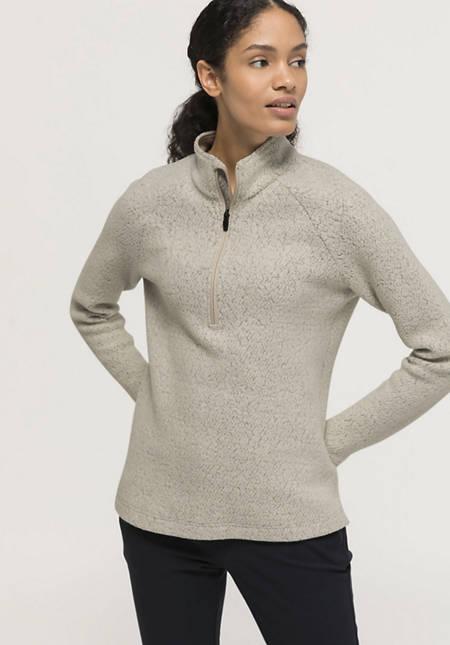 Damen Fleece-Troyer aus Bio-Merinowolle mit Bio-Baumwolle