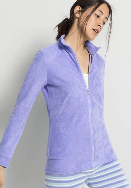 Damen Frottee-Jacke aus reiner Bio-Baumwolle