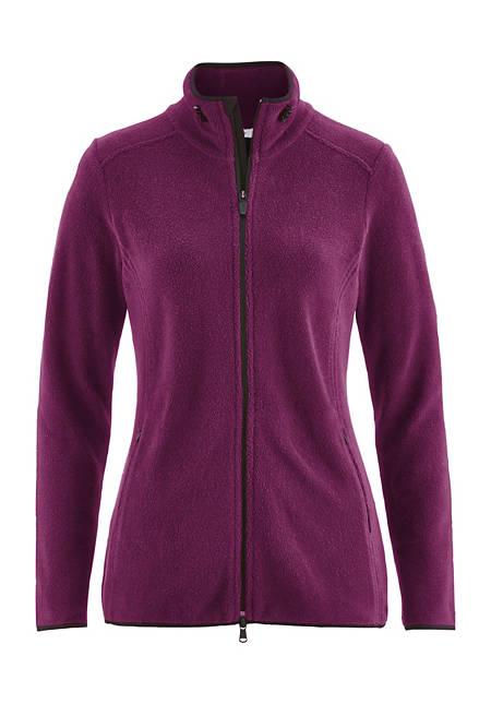 Damen Jacke aus reinem Bio-Baumwoll-Fleece