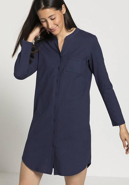 Damen Jersey-Nachthemd aus reiner Bio-Baumwolle