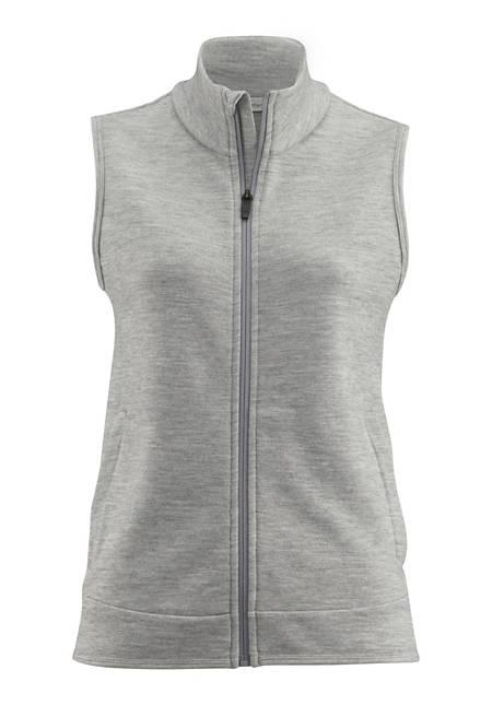 Damen Jersey-Weste aus Bio-Merinowolle mit Bio-Baumwolle