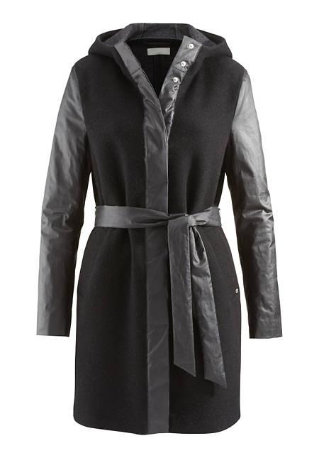 Damen Mantel aus Schurwolle mit Bio-Baumwolle