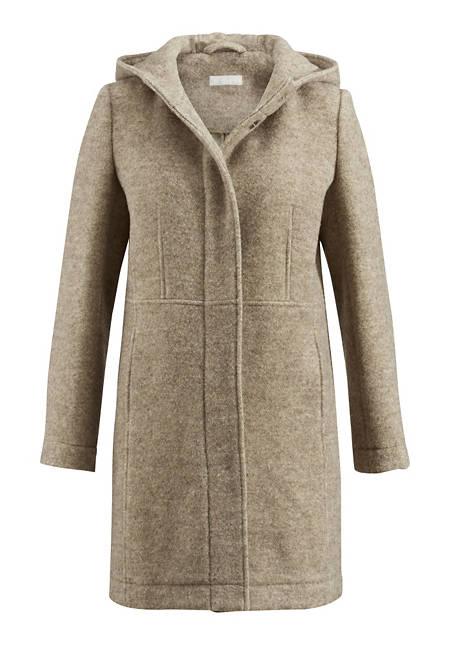 Damen Mantel aus reiner Schurwolle vom Rhönschaf