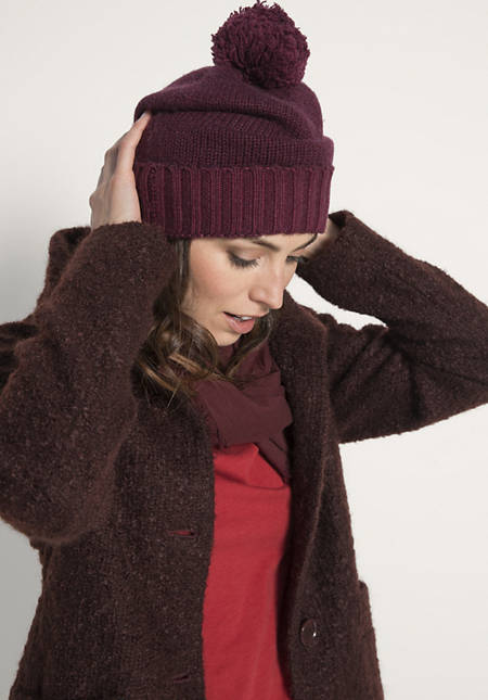 Damen Mütze aus reiner Schurwolle